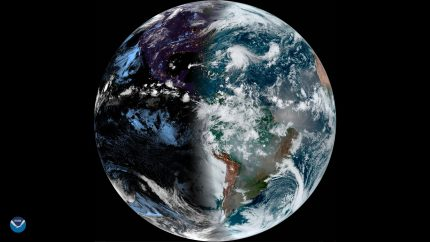 Autumnal Equinox NOAA GOES East Satellite View - September 23rd, 2019