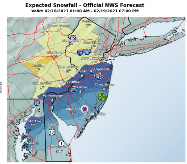 Winter Storm Expected Totals